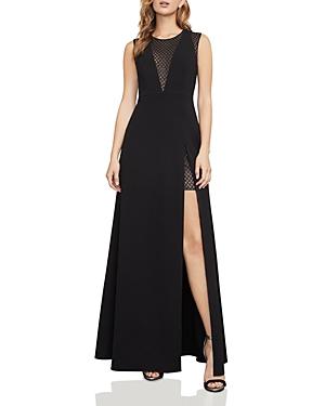 Bcbgmaxazria Mesh-Inset Gown
