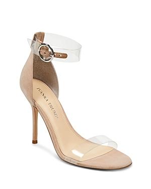 Ivanka Trump Women's Kaye Suede Illusion High Heel Sandals