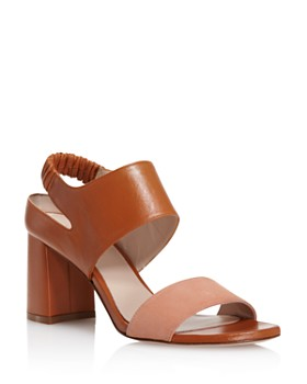 Stuart Weitzman - Women's Erica Suede & Leather Block Heel Sandals