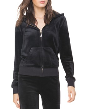 8f3206c4d120 Juicy Couture Black Label - Luxe Robertson Velour Hoodie ...