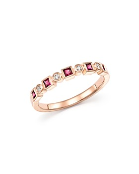 Bloomingdale's - Ruby & Diamond Band in 14K Rose Gold - 100% Exclusive
