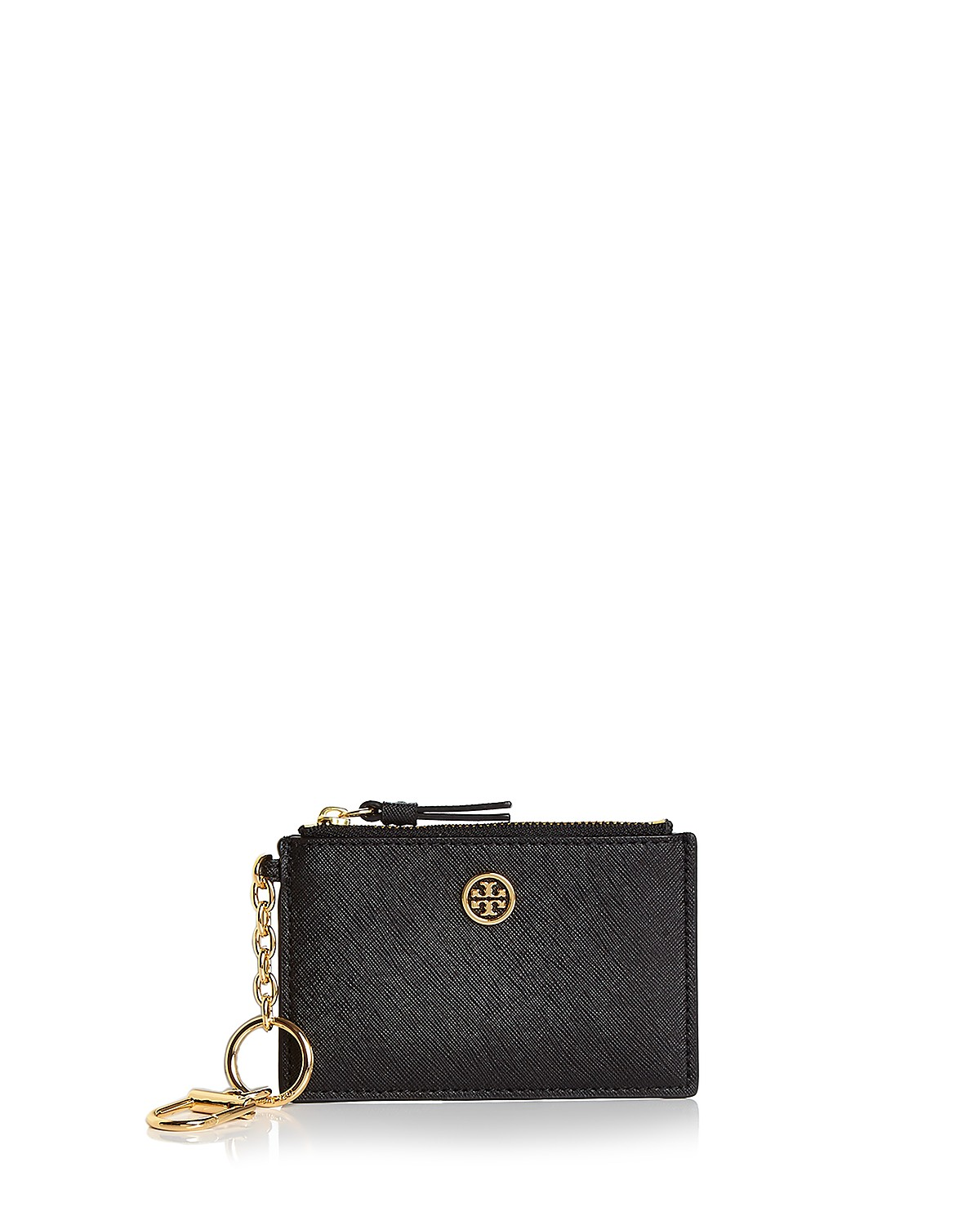 Tory Burch Robinson Leather Card Case | Bloomingdale\'s