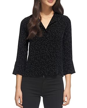 Whistles Fleck-Print Pajama Shirt