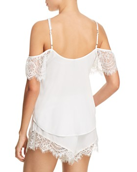 Thistle & Spire - Sterling Pearls Cold Shoulder Flowy Top & Tap Shorts