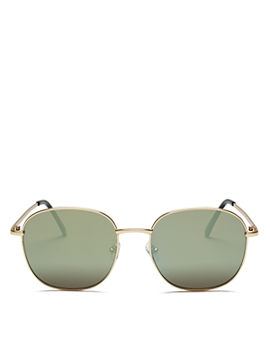 Quay  WOMEN'S JEZABELL MIRRORED ROUND SUNGLASSES, 54MM