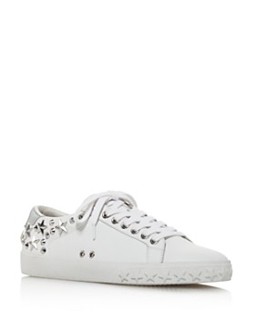 Ash - Women's Dazed Star Studded Leather Lace Up Sneakers