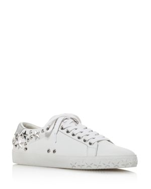Ash Women's Dazed Star Studded Leather Lace Up Sneakers