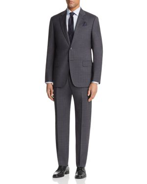 Emporio Armani Tonal Check Regular Fit Suit