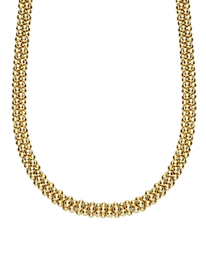 Lagos Caviar Gold Collection 18K Gold Rope Necklace, 18