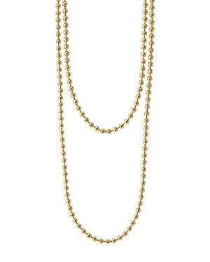 Lagos Caviar Gold Collection 18K Gold Ball Chain Necklace, 34