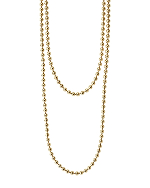 Lagos Caviar Gold Collection 18K Gold Ball Chain Necklace, 34-Jewelry & Accessories