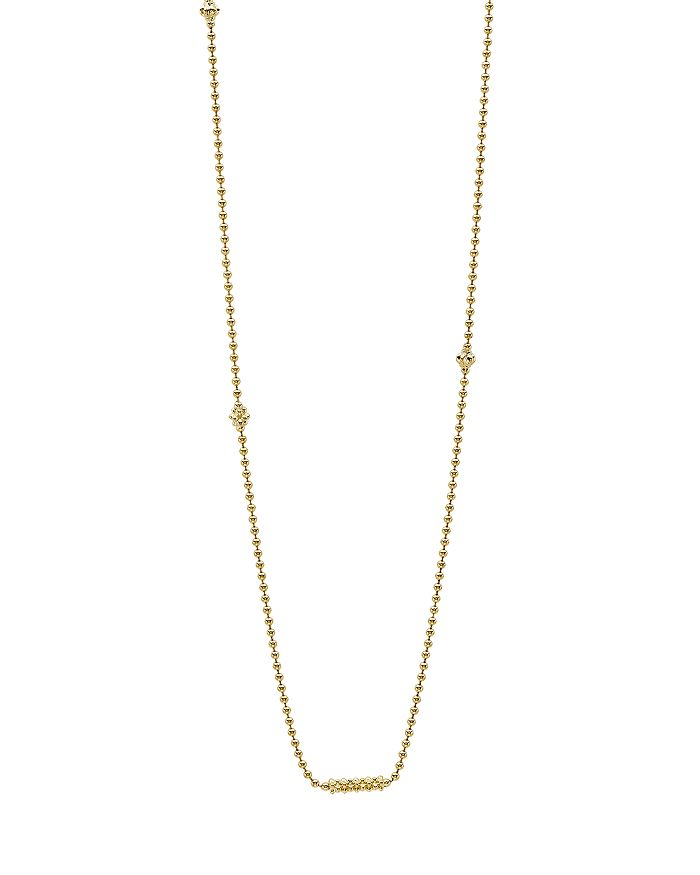 LAGOS - Caviar Gold Collection 18K Gold Beaded Station Necklace, 16""