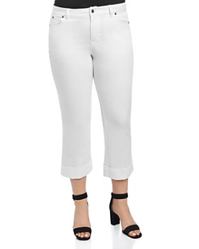 Foxcroft Plus - Cropped Jeans in White