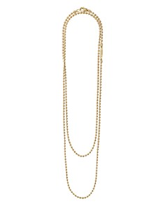 LAGOS - Caviar Gold Collection 18K Gold Ball Chain Necklace, 34""