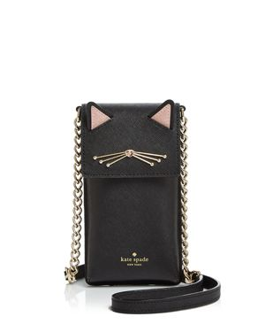 kate spade new york Cat North South Leather Phone Crossbody 2841388