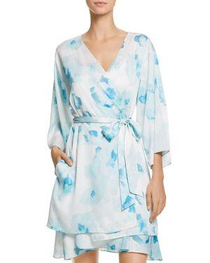 kate spade new york Rose-Print Bridal Robe