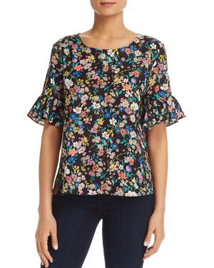 Le Gali Dorianna Floral Print Bell Sleeve Blouse - 100% Exclusive