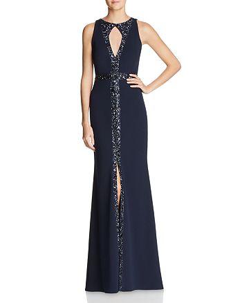 Aidan Mattox - Embellished Keyhole Gown