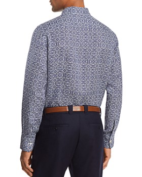 Canali - Antique Tile Linen Regular Fit Button-Down Shirt