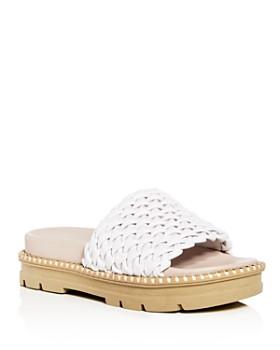 Daniella Lehavi - Women s Hanoi Smocked Leather Platform Slide Sandals -  100% Exclusive ... 2b1148518b2c0