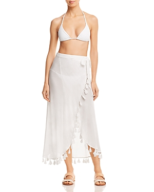 Red Carter Wrap Skirt Swim Cover-Up