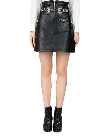 The Kooples - High-Waisted Leather Skirt