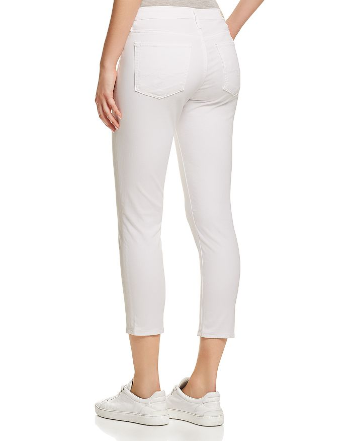 22a67c1f0a7 AG Prima Crop Jeans in White | Bloomingdale's