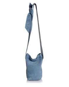 ELENA GHISELLINI - Caddy Small Suede and Leather Bucket Bag