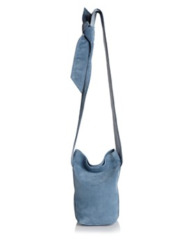 efa684ba16d ELENA GHISELLINI - Caddy Small Suede and Leather Bucket Bag ...