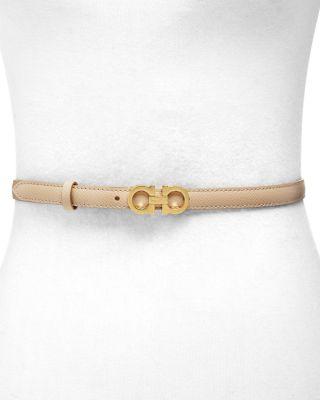 skinny-gancini-leather-belt by salvatore-ferragamo