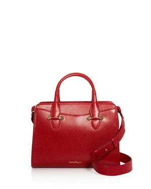 SMALL TODAY LEATHER SATCHEL - RED
