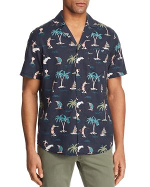 BANKS HULA SHORT SLEEVE BUTTON-DOWN SHIRT - 100% EXCLUSIVE