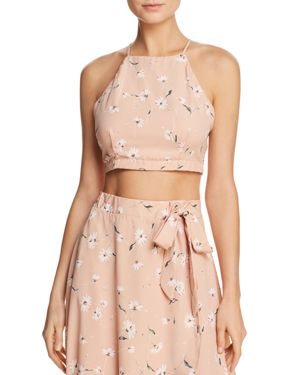 PPLA SOPHINA FLORAL-PRINT CROPPED TOP