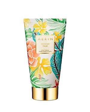 What It Is: Richly luxurious and replenishing, Aerin\\\'s Hibiscus Palm Body Cream drenches skin with moisture to soften and help revitalize its appearance. Skin is refreshed and delicately scented. Key Notes: - Top notes: lotus flower accord, hibiscus palm accord, ylang-ylang, ginger - Middle notes: Frangipani, white blossoms - Base notes: coconut milk, vanilla, musk About The Fragrance: Journey to a palm-fringed, tropical island. Hibiscus Palm captures the island scent of brilliant sunshine on a