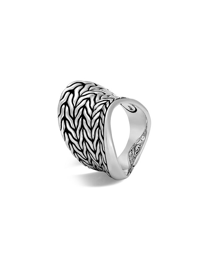 John Hardy Sterling Silver Classic Chain Wave Ring