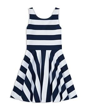 Ralph Lauren - Girls' Striped Fit-and-Flare Dress - Little Kid