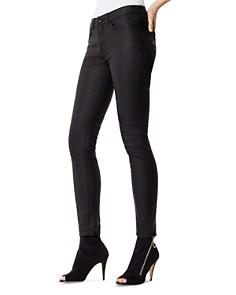KAREN MILLEN - Coated Skinny Jeans in Black