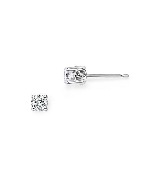 Bloomingdale's - Diamond Stud Earrings in 14 Kt. White Gold, 0.33 ct. t.w.- 100% Exclusive