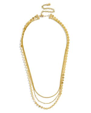 Ariana Layered Necklace, 18, Gold