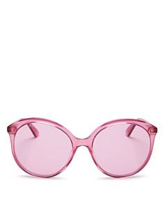 Gucci - Women's Monocolor Round Sunglasses, 59mm