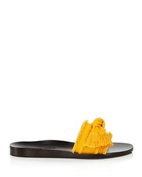MARION PARKE - Women's Jordan Fringe Bow Slide Sandals - 100% Exclusive