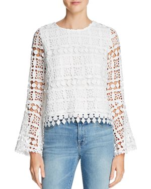 Lucy Paris Bernice Bell Sleeve Lace Top - 100% Exclusive