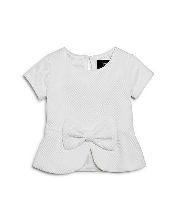 7137728ac2d Bardot Junior Girls' Textured Peplum Top - Baby | Bloomingdale's