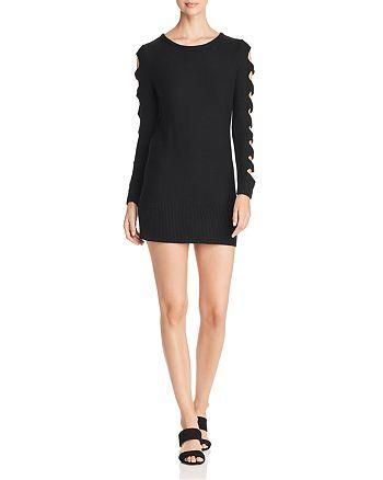 AQUA - Cutout-Sleeve Sweater Dress - 100% Exclusive