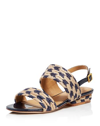 b662255bd699 Tory Burch Women s Lola Woven Jute   Leather Slingback Sandals ...