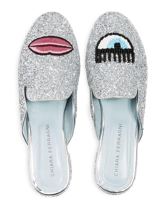 b96be3916e8 Chiara Ferragni Women's Sabot Embellished Glitter Mules   Bloomingdale's