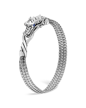 John Hardy Sterling Silver Legends Naga Multi-Chain Bracelet with Sapphire Eyes-Jewelry & Accessories