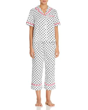 CROPPED SATEEN PAJAMAS
