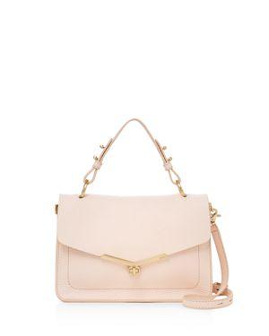 Vivi Calfskin Leather Satchel - Pink, Blossom