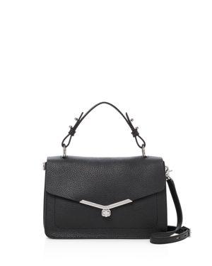Vivi Calfskin Leather Satchel - Black